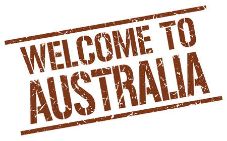 australia stamp: welcome to Australia stamp