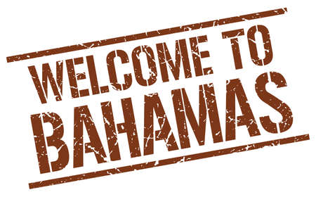 bahamas: welcome to Bahamas stamp
