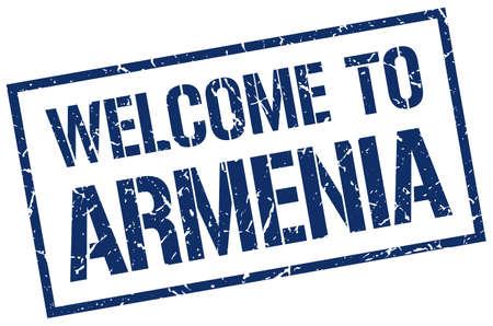 armenia: welcome to Armenia stamp