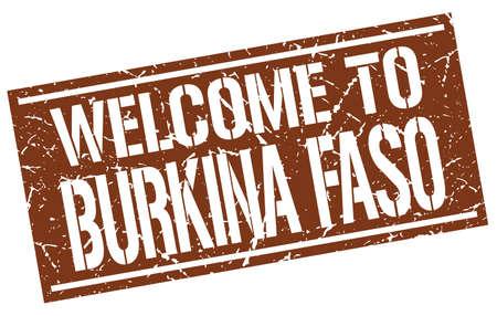 burkina faso: welcome to Burkina Faso stamp