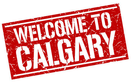 calgary: welcome to Calgary stamp