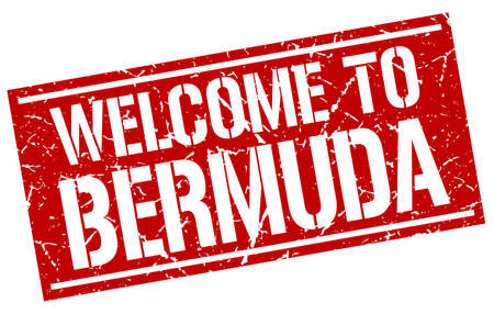 bermuda: welcome to Bermuda stamp Illustration