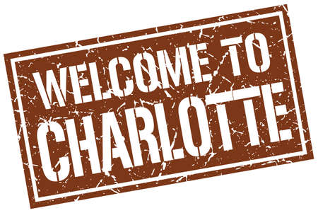charlotte: welcome to Charlotte stamp Illustration