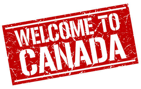 canada stamp: welcome to Canada stamp