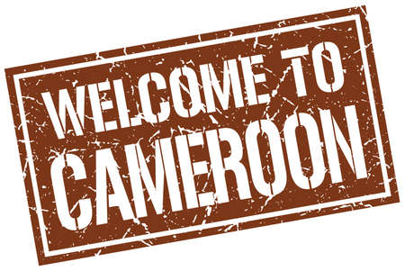 cameroon: welcome to Cameroon stamp