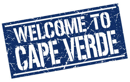 an        verde: welcome to Cape Verde stamp