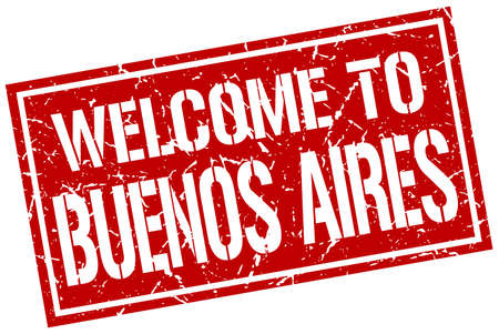 buenos aires: welcome to Buenos Aires stamp