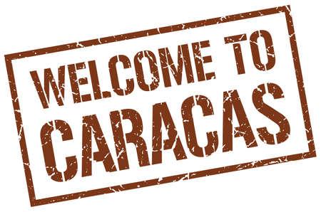 caracas: welcome to Caracas stamp