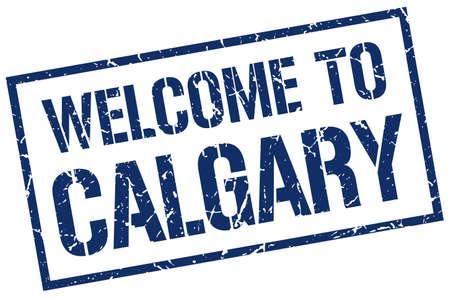 calgary: welcome to Calgary stamp