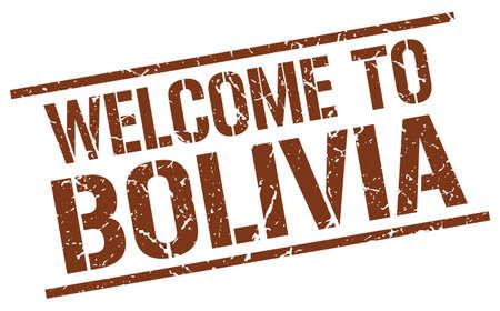 bolivia: welcome to Bolivia stamp Illustration