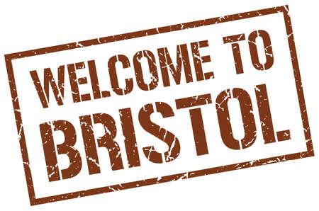 bristol: welcome to Bristol stamp