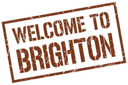 brighton: welcome to Brighton stamp