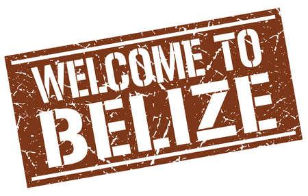 welcome to Belize stamp Illustration