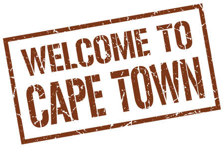 cape town: welcome to Cape Town stamp