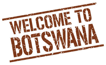 botswana: welcome to Botswana stamp