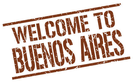 buenos: welcome to Buenos Aires stamp
