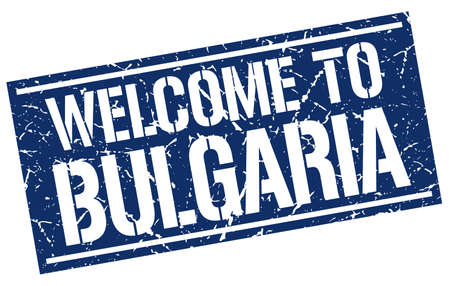 bulgaria: welcome to Bulgaria stamp