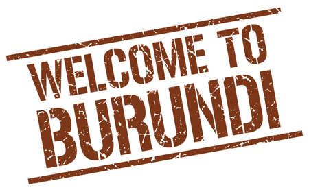 burundi: welcome to Burundi stamp Illustration