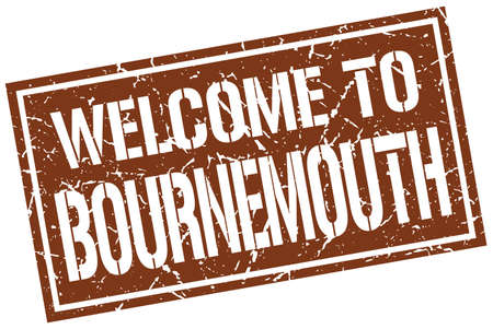 bournemouth: welcome to Bournemouth stamp