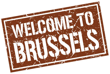 brussels: welcome to Brussels stamp