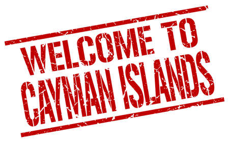 cayman islands: welcome to Cayman Islands stamp