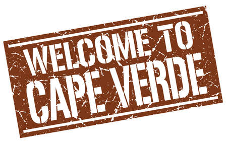 verde: welcome to Cape Verde stamp