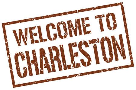 in charleston: welcome to Charleston stamp