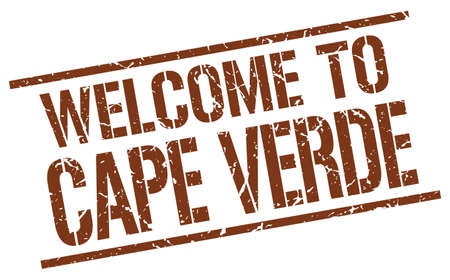 cape verde: welcome to Cape Verde stamp