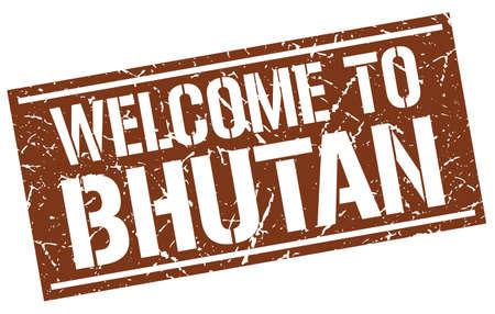 bhutan: welcome to Bhutan stamp