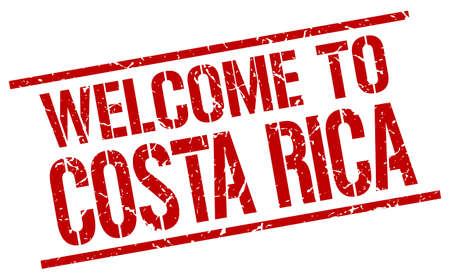 costa: welcome to Costa Rica stamp