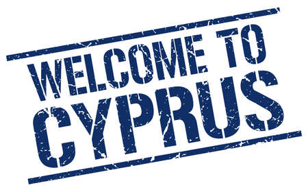 cyprus: welcome to Cyprus stamp
