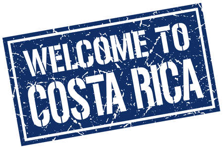 costa rica: welcome to Costa Rica stamp