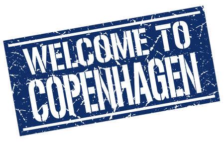 copenhagen: welcome to Copenhagen stamp Illustration
