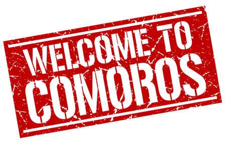 comoros: welcome to Comoros stamp