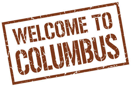columbus: welcome to Columbus stamp