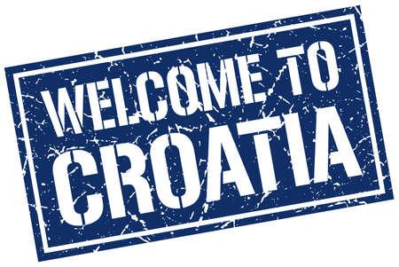croatia: welcome to Croatia stamp