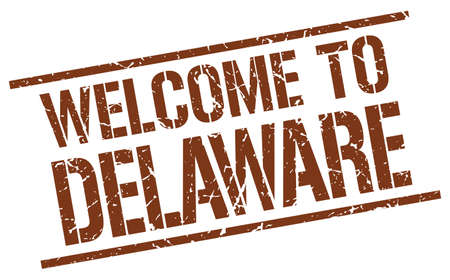 delaware: welcome to Delaware stamp