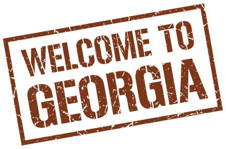georgia: welcome to Georgia stamp