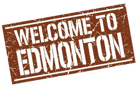 edmonton: welcome to Edmonton stamp