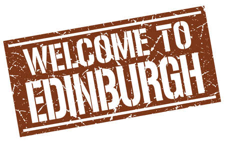 edinburgh: welcome to Edinburgh stamp
