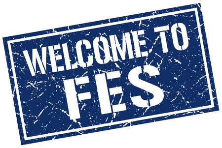 fes: welcome to Fes stamp