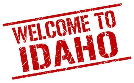 idaho: welcome to Idaho stamp Illustration