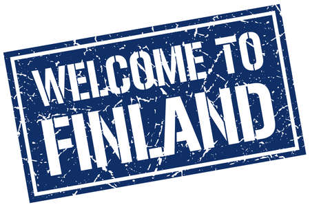 finland: welcome to Finland stamp Illustration