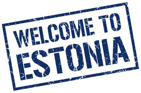 estonia: welcome to Estonia stamp