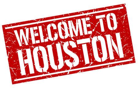 houston: welcome to Houston stamp