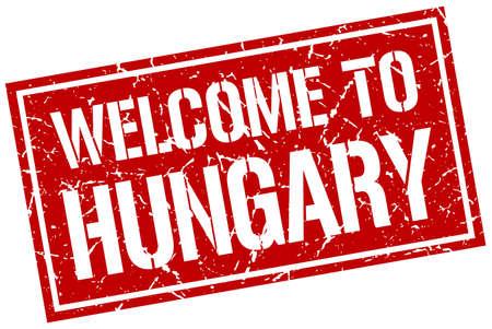 hungary: welcome to Hungary stamp