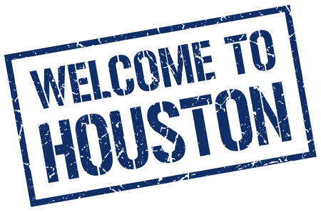 houston: welcome to Houston stamp
