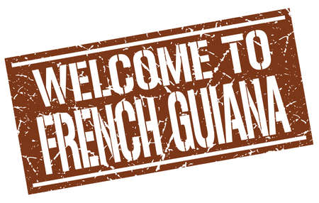 guiana: welcome to French Guiana stamp