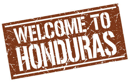 honduras: welcome to Honduras stamp