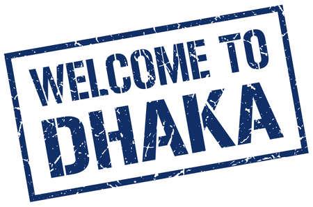 dhaka: welcome to Dhaka stamp Illustration